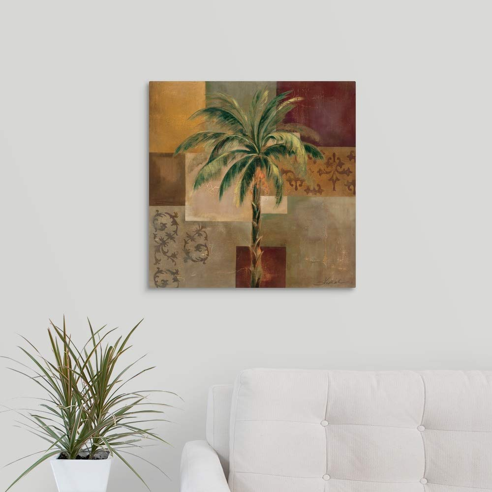 Charleston Palm I Canvas Wall Art Print, 20 x20 x1.25