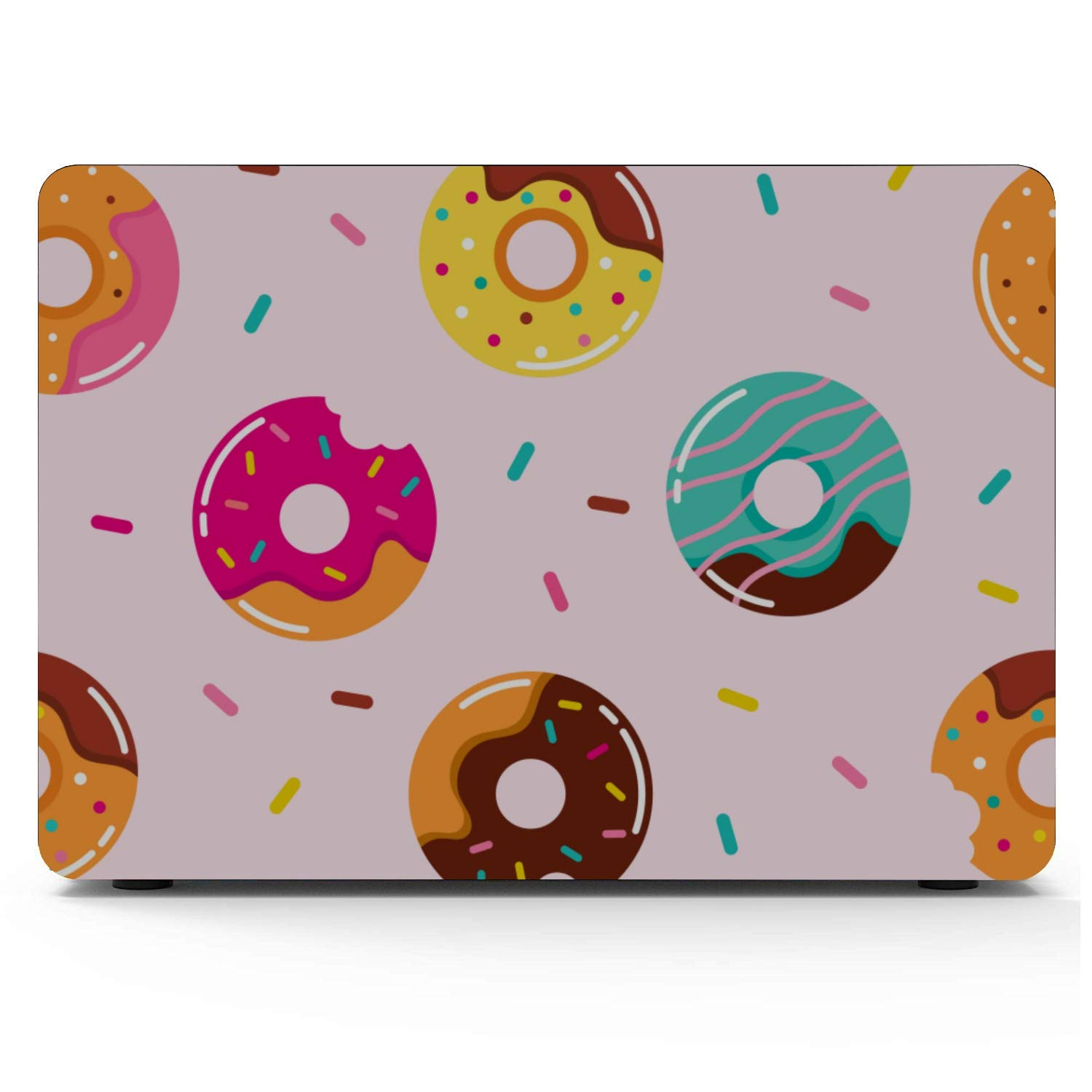 Mac Book Air Covers Sweets Delicious Cute Cake Donuts Plastic Hard Shell Compatible Mac Air 11 Pro 13 15 12inch MacBook Case Protection for MacBook 2016-2019 Version