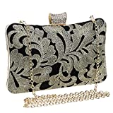Symbolove Womens Modern Fashion Evening-handbags Cabinet Evening Party Wedding Clutch Bag For Women-C1