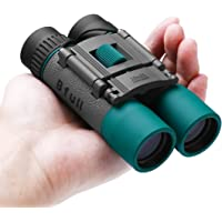 BFULL mini Binoculars compact Folding waterproof Binoculars 10x25 Telescope for adults Bird watching, Football Safari Sightseeing Climbing Concerts, Sport,gift Hiking, Camping and Travel(Black)