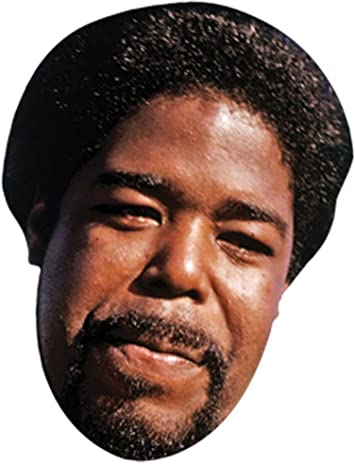 Card Face and Fancy Dress Mask Barry White Celebrity Mask