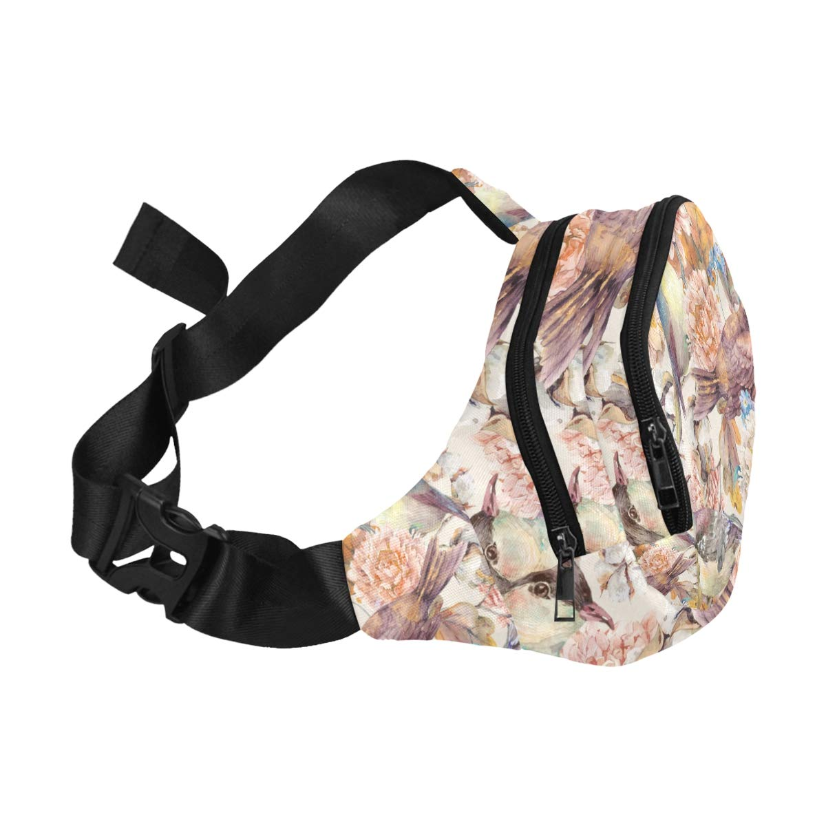 Colorful Chrysanthemum Watercolor Fenny Packs Waist Bags Adjustable Belt Waterproof Nylon Travel Running Sport Vacation Party For Men Women Boys Girls Kids