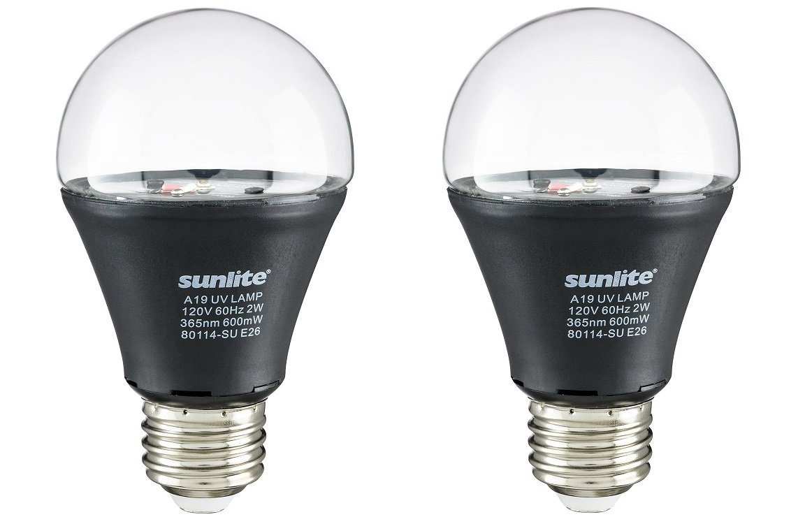 Sunlite A19/LED/2W/BLB LED UV 2W A19 Blacklight Blue Bulb with E26 Medium Base Sunshine Lighting