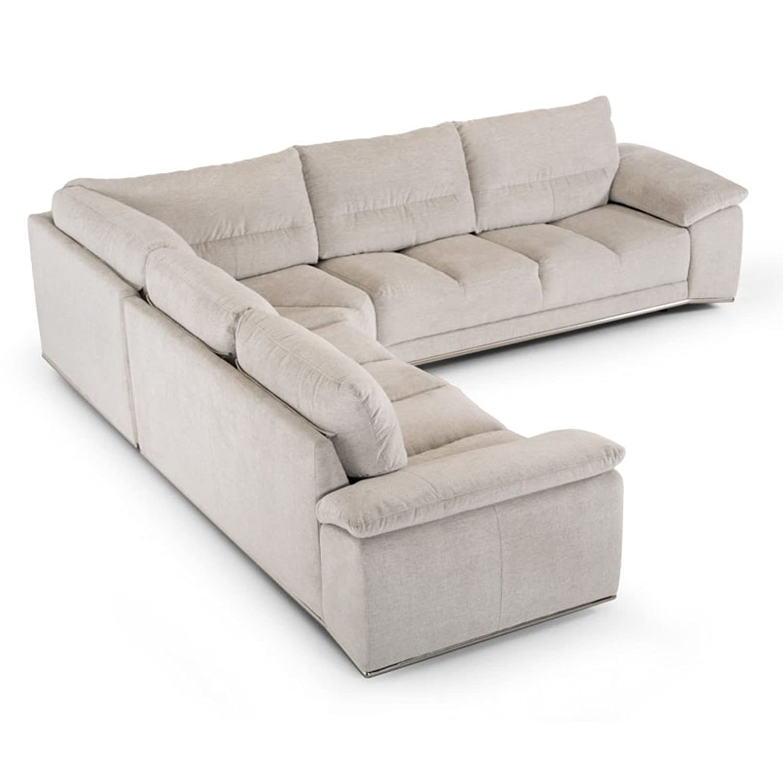 Amazon Divani Casa Antioch Modern Grey Fabric Sectional Sofa