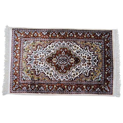 indian handgefertigten Teppich Blumenmehrfarbenpuppenhaus Bodenbelag Matte 40