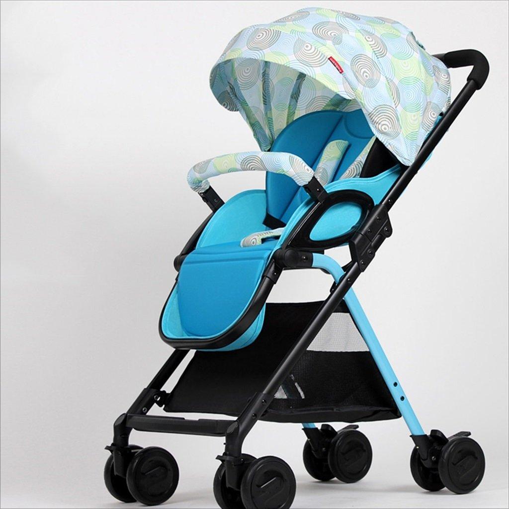 新生児の赤ちゃんキャリッジ折りたたみ可能な座って、1ヶ月の赤ちゃんをダンピングすることができます3歳の赤ちゃんの4つの車輪トロリー目覚め (色 : C) B07DVPWR4HC