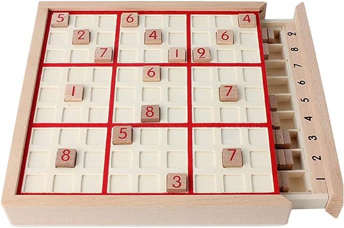 vap26 Juego de Mesa Sudoku de Madera Divertido para niños Adultos con Juguete Educativo de cajón: Amazon.es: Hogar