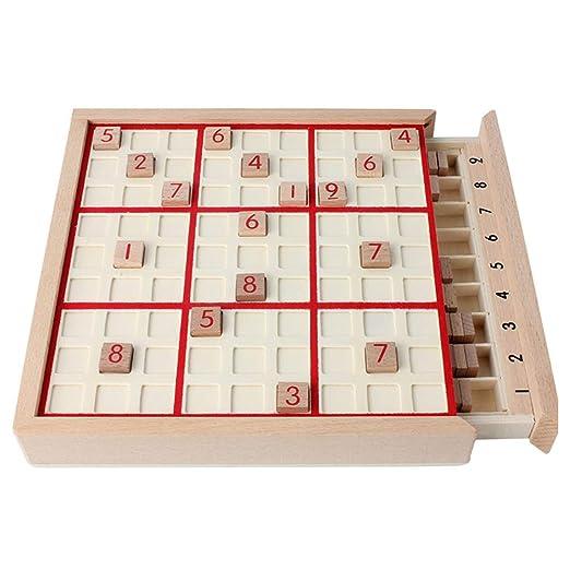 vap26 Juego de Mesa Sudoku de Madera Divertido para niños Adultos ...