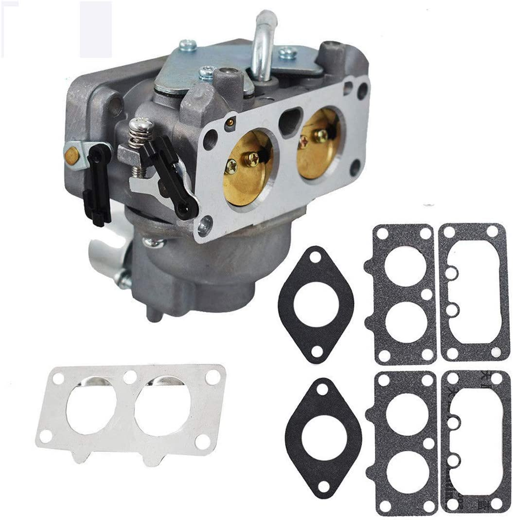 Goodbest New Carburetor and Gaskets for Kawasaki Some FH641V, FH661V Replace #15004-0763 15004-7024 15004-1010
