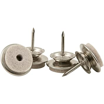 Nail On   1u0026quot; Swivel Glides With Felt For Straight Or Angled Wooden Furniture  Legs