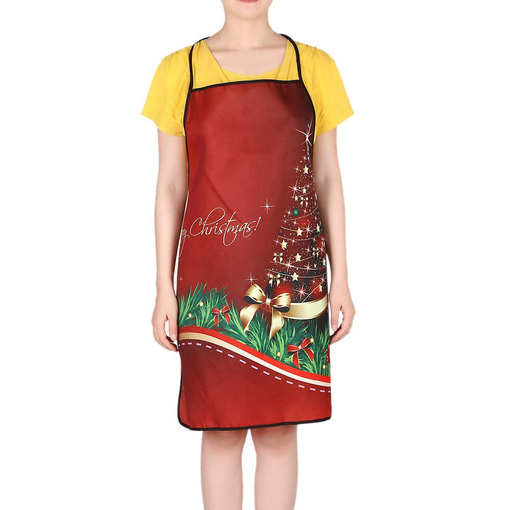 Sunshinehomely Christmas Decoration Waterproof Apron Kitchen Aprons