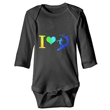 Amazon.com: I Love Surfing Surfer Rainbow Baby - Body de ...