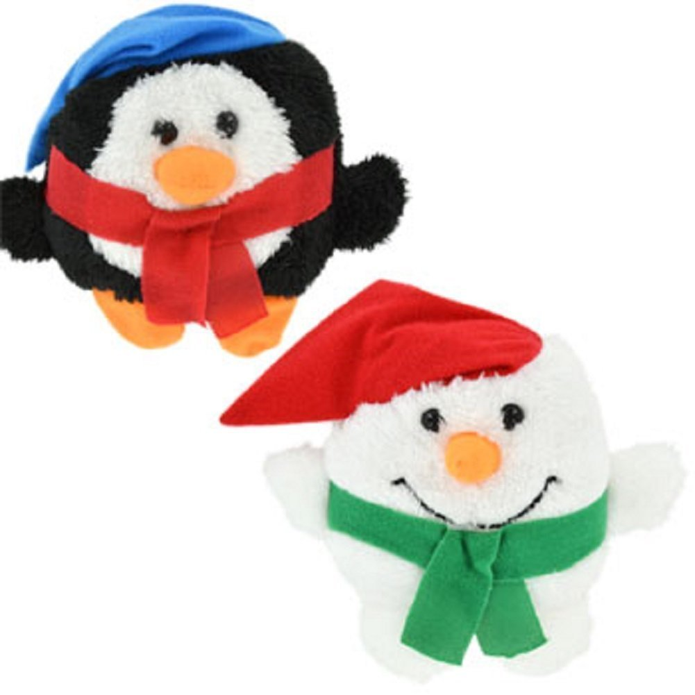 Bundle: 6 Items - Plush Christmas Roly-Poly Pals, 5 Inch