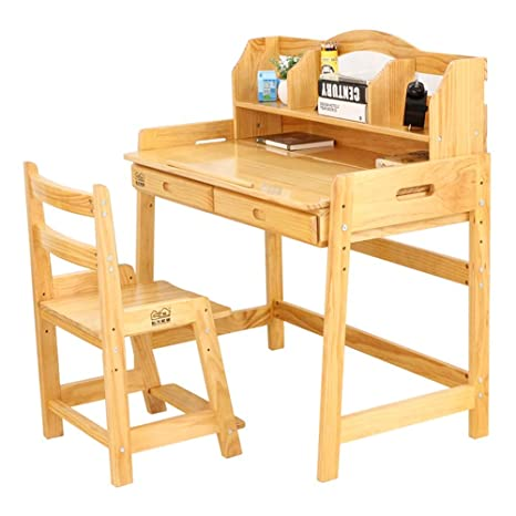 Amazon.com: Tables ZR-Wall Study Childrens Solid Wood Desk ...