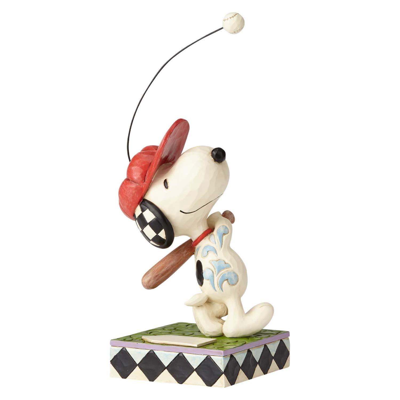 Enesco Peanuts by Jim Shore Snoopy Beagle at Bat Figurine, 7.5 Inch, Multicolor