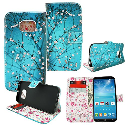 (Customerfirst - Galaxy S6 Edge Case, [Stand Feature] Samsung Galaxy S6 Edge G925 (Verizon/at&t/sprint/t-mobile/us Cellular) Wallet Case **New** [Book Cover Case] - Wallet Cover, Galaxy S6 Edge Leather Case with Stand Flip Cover and Credit Card Id Holders for Samsung Galaxy S6 Edge 2015 Model (Spring Teal))
