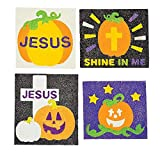 Bargain World Christian Pumpkins Sand Art Magnets (With Sticky Notes)