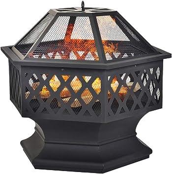 Chimeneas, espacio estufa Zona de Ocio Calentador pozo de fuego para el jardín y Patio - Actualiza