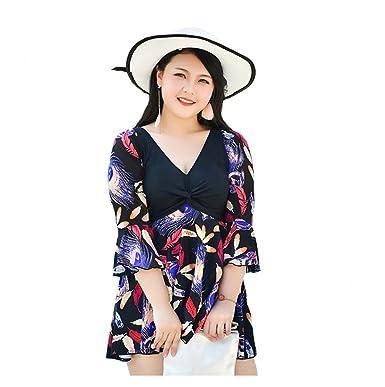 2c0d81ce745e3 U.R.dream Women s Plus Size Swimwear Elegant One Piece Swimdress Half  Sleeve Long Torso Swimsuits