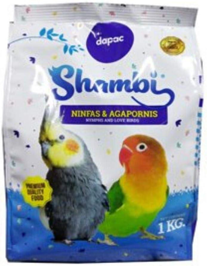 DAPAC - Comida Mixtura SHAMBI con Vitaminas para Ninfas y Agapornis 1Kg
