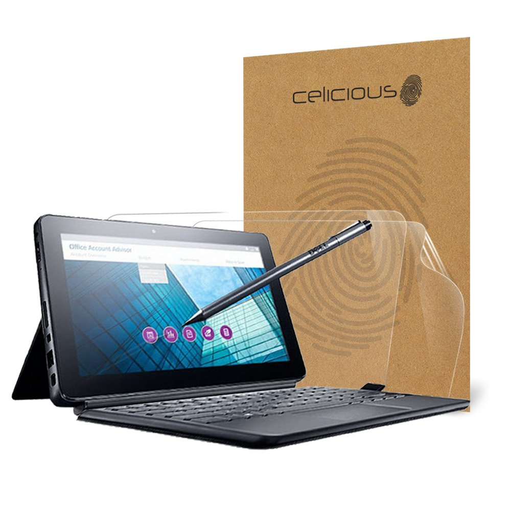 Celicious Vivid Invisible Glossy HD Screen Protector Film Compatible with Dell Latitude 11 5175 [Pack of 2]