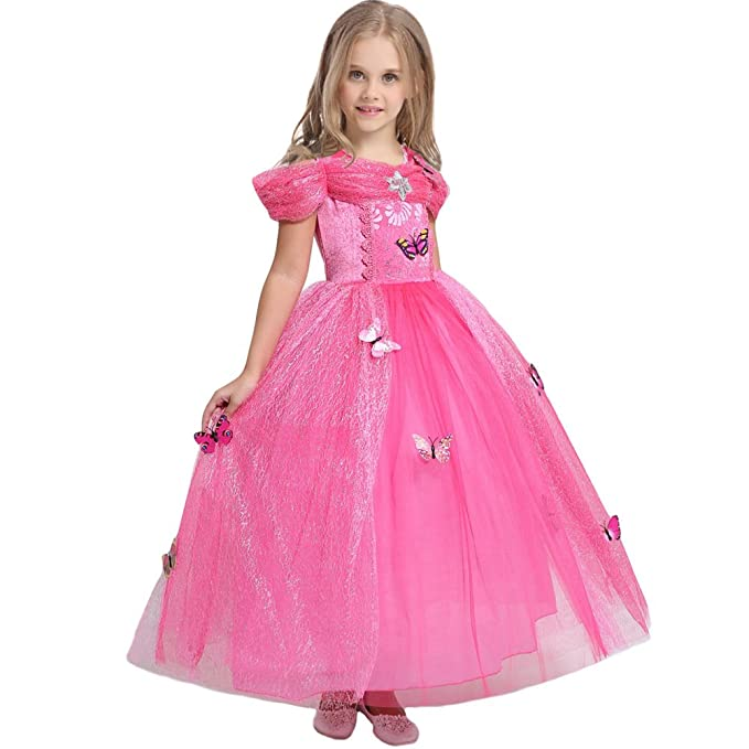 Amazon.com: JiaDuo New Girls Princess Fancy Dress up Butterfly Party ...