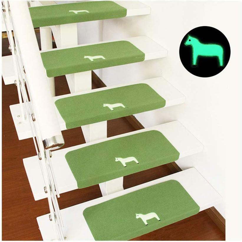 Peldaños Antideslizantes para escaleras de alfombras Noctilucence Escaleras Juego de 13 Piezas Decoración para el hogar para escaleras de Madera,Verde,S: Amazon.es: Hogar