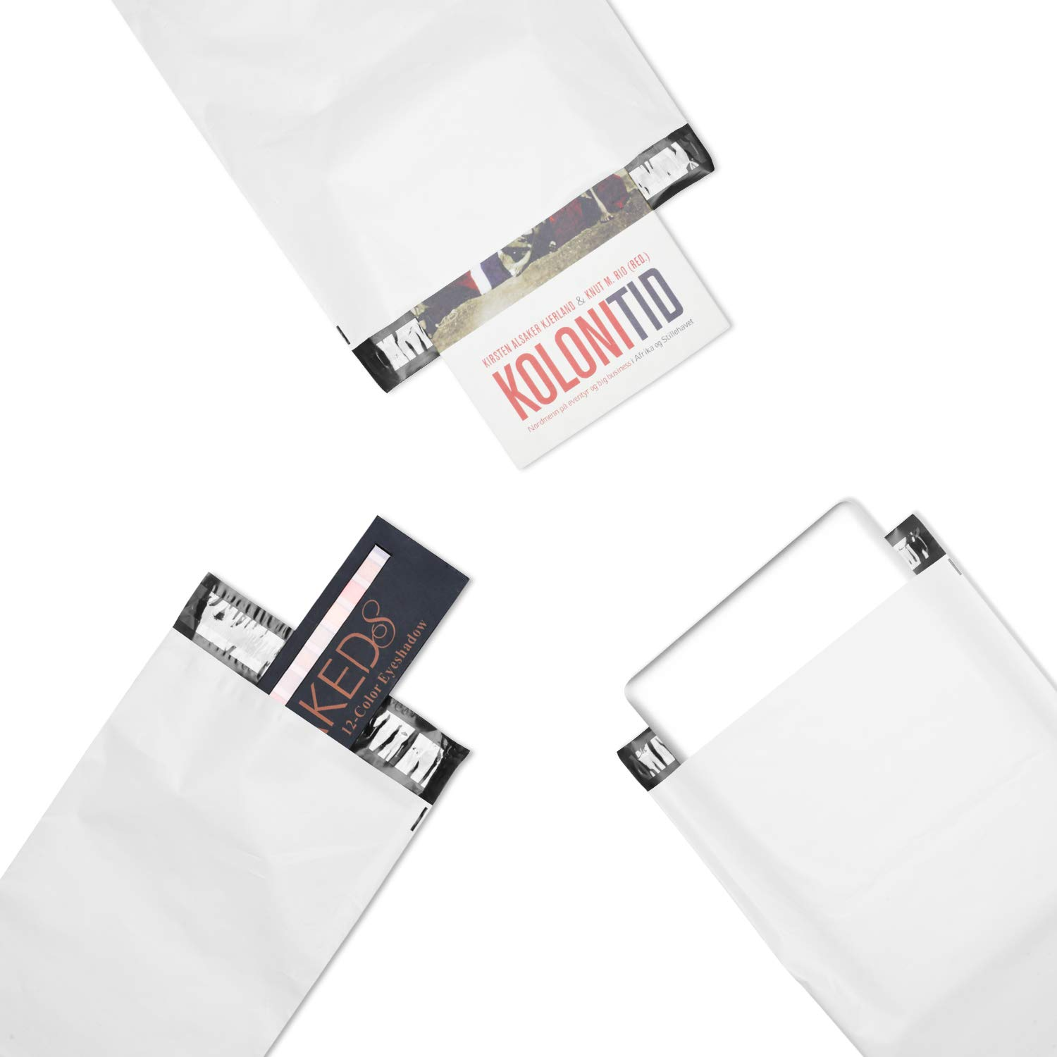Metronic 200 7.5 x 10.5 Poly Mailer Envelopes Shipping Bags with Self Adhesive, Waterproof and Tear-Proof Postal Bags&White (White, 200) by Metronic (Image #4)