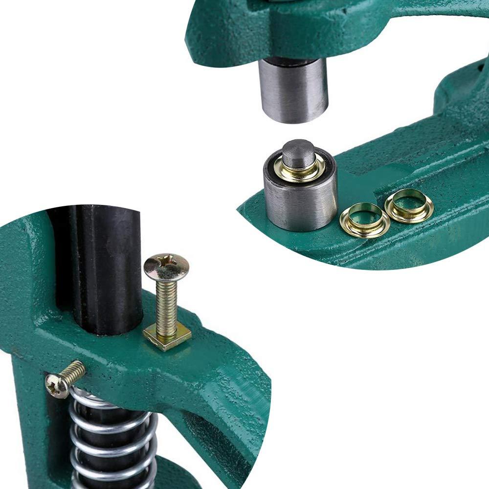 M/áquina de perforaci/ón de ojales para m/áquina de perforar con 3 troqueles de 6 mm 10 mm 12 mm herramienta de perforaci/ón con 1500 ojales