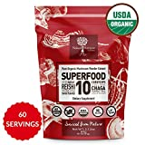 14:1 SUPERFOOD 10 Organic Mushroom Powder Extract Supplement- 100% Pure-USDA- Reishi-Chaga-Maitake-Cordyceps-Shiitake-Lions Mane-TurkeyTail-Oyster-Phellinus linteus-Astragalus-Add to Coffee/Drinks-60g Review