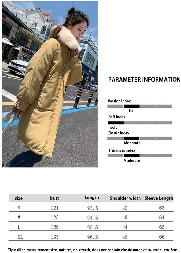 Doudoune Femme Grande Taille,d'hiver Blouson D'Extérieur Mesdames Parker Manteau Hiver Longue Capuche Grande Taille Veste en Duvet Grand Col De Four yellow