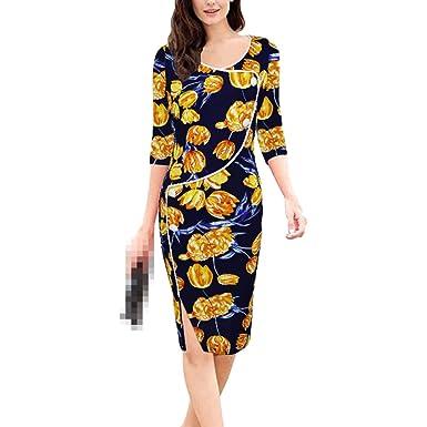 Vestido Largo De Playa con Cuello En V Y Escote Redondo para Mujer Vestido  Largo De Bodycon 58236ff6fee