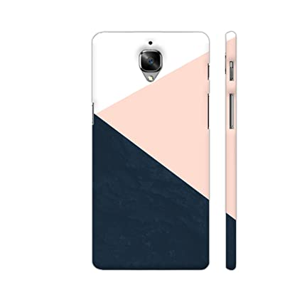 best sneakers 1b5ab c311a Colorpur Chevron Printed Back Case For Oneplus 3T -Peach & Black