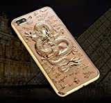 iPhone 8/iPhone 7 Case(4.7inch),Blingy's Cool 3-D Dragon Style Flexible TPU Case for iPhone 8/iPhone 7 (Gold)