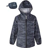Therm Kids Raincoat, Waterproof Girls Boys Rain Jacket - Lightweight, Packable