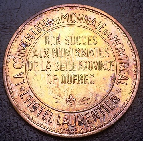 Scarce Token - Unbranded SCARCE MONTREAL QUEBEC COIN CONVENTION TOKEN LAURENTIAN HOTEL BRONZE MEDAL