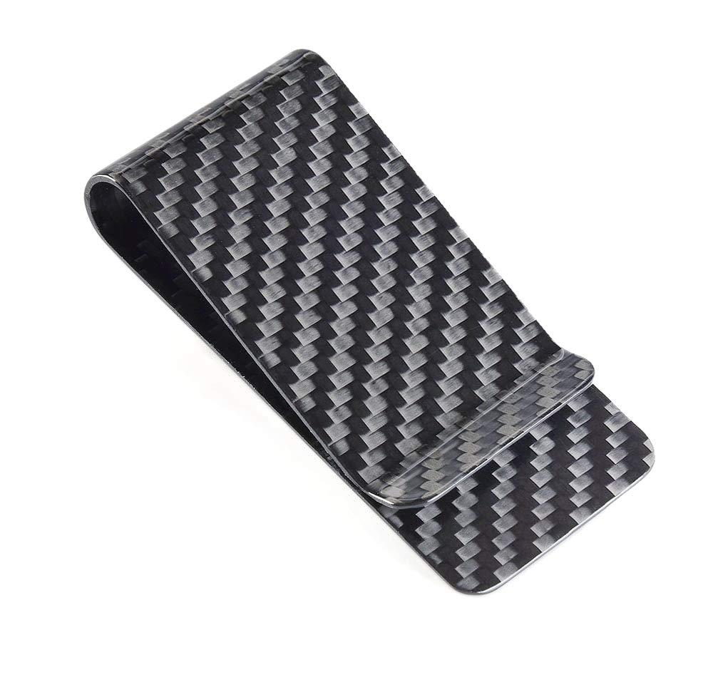 Carbon Fiber Wallet CL Carbonlife? Glossy Money Clip Credit Card Business Card Holder (Black glossy)