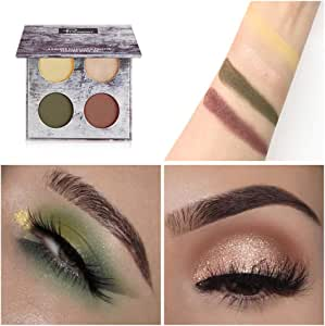 Moretime - Paleta de sombras de ojos, mate, cosmética, crema, paleta de maquillaje Shimmer, juego de 4 colores: Amazon.es: Belleza