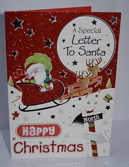 Una Carta a Papá Noel Tarjeta de felicitación de Navidad ...
