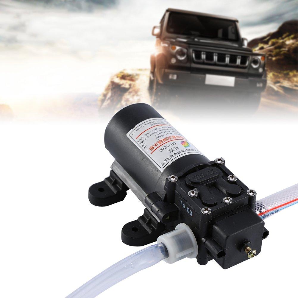 Akozon Bomba de agua de diafragma de alta presi/ón para la Limpieza de Lavado de Veh/ículos y Riego de Jardines 12V 60W 5L min x