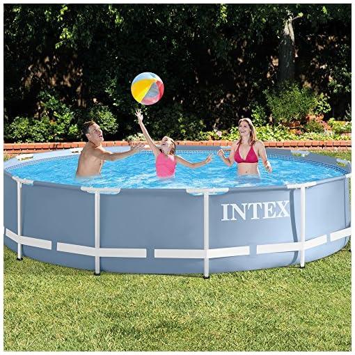Intex Prisma Frame 366X76 Cm Piscina Gioco Estivo Estate Giocattolo 590, Multicolore, 366 x 76, 6941057405070