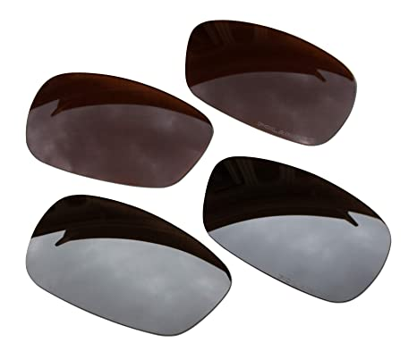 b40ca44ad5 Image Unavailable. Image not available for. Color  BVANQ 2 Pairs Polarized  Lenses Replacement Brown   Black ...