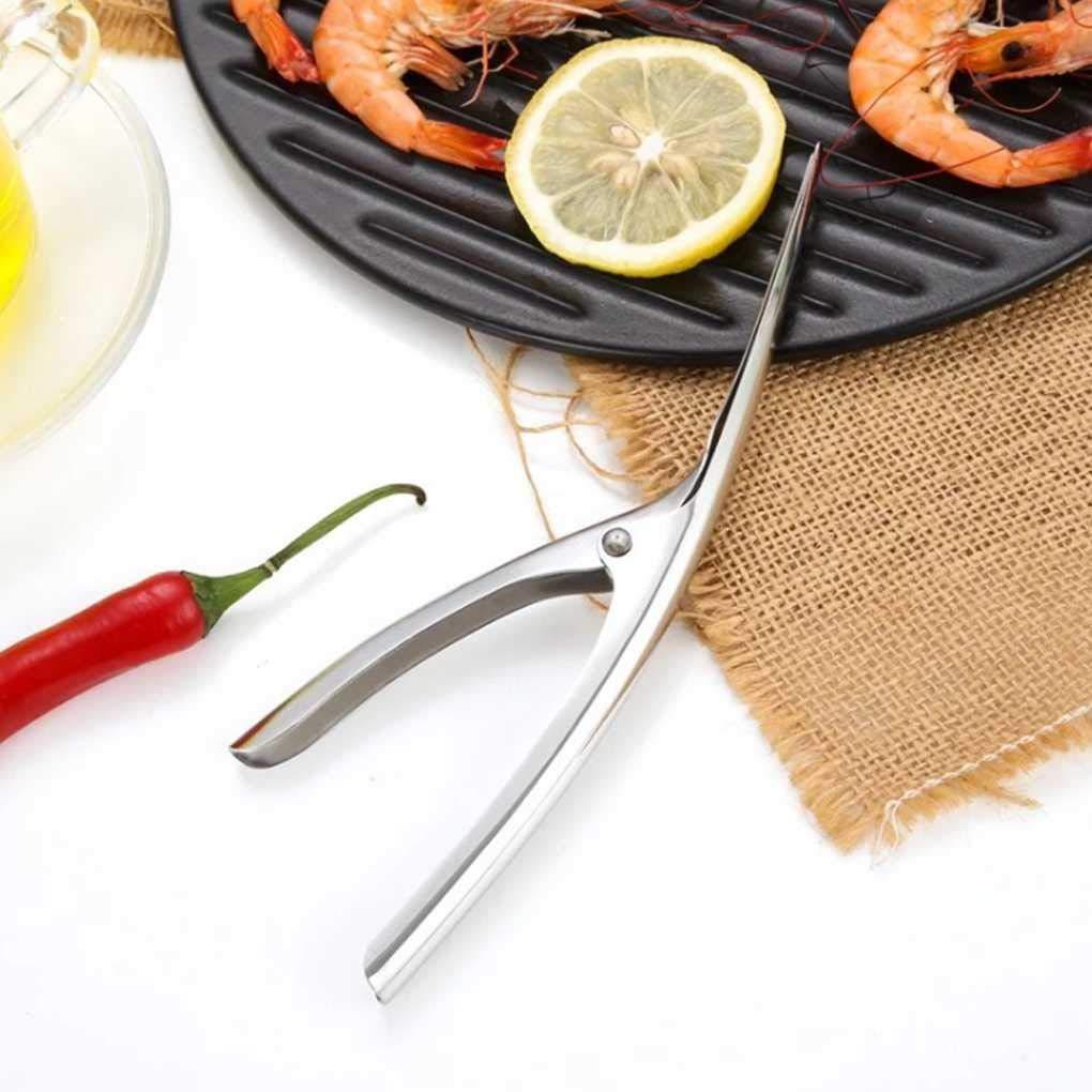 Morelyfish Cangrejos Sheller Acero Inoxidable pelador de gambas Camar/ón Devenadora Pelar Las Herramientas de la Cocina Dispositivo de extracci/ón de camar/ón