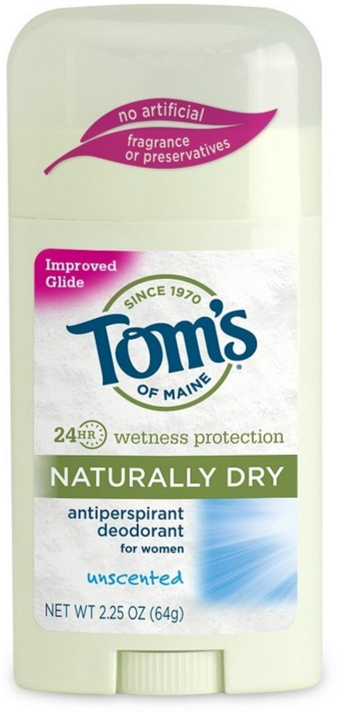 Tom's of Maine Naturally Dry Antiperspirant, Unscented 2.25 oz (Pack of 10) by Tom's of Maine (Image #1)