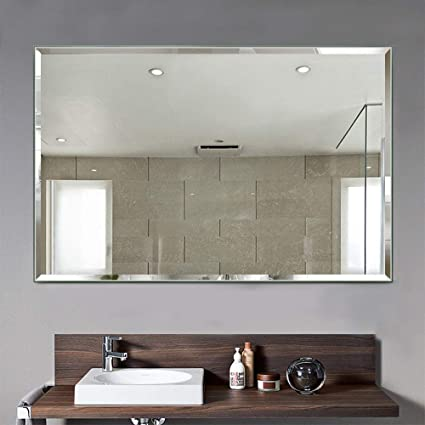 Amazon Com Linsgroup Large Rectangular Bathroom Mirror Wall