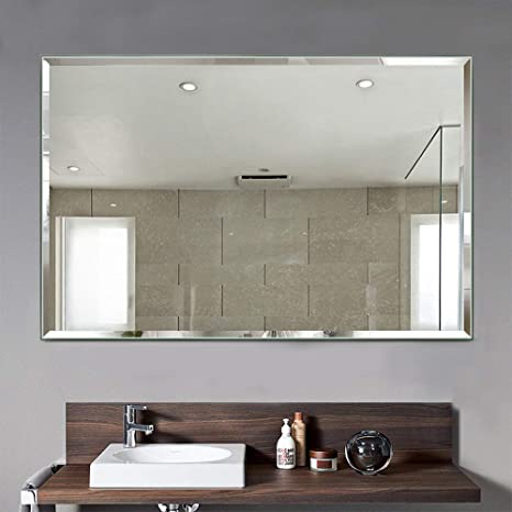 Two Way Mirror Bathroom.Onxo Dimmable Led Lighted Vanity Mirror Bathroom Home Office Hanged Two Way Frameless Wall Mounted Mirror Anti Fog With Touch Button White Led 1 32