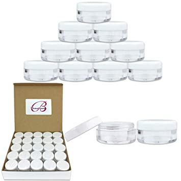 b95766ae78b4 50 New Empty 5 Grams Acrylic Clear Round Jars - BPA Free Containers for  Cosmetic, Lotion, Cream,...