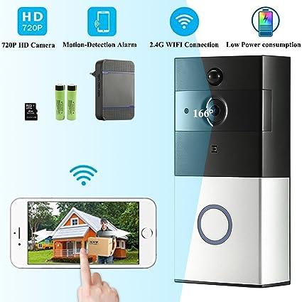 Video inalámbrico Timbre de la puerta DoorBell Video Wi-Fi Activado Timbres inalámbricos con sensor