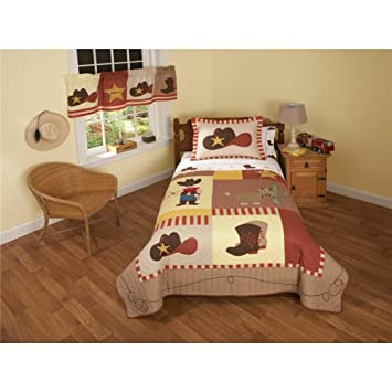 Amazon.com: Cowboy Quilt Set Size: Full / Queen: Home & Kitchen : cowboy quilt - Adamdwight.com