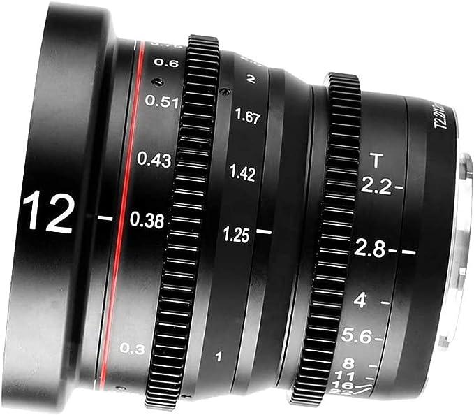 Meike 12 Mm T2 2 Große Blende Manueller Fokus Kinoobjektiv Weitwinkel Geringe Verzerrung Mini Fixiertes Prime